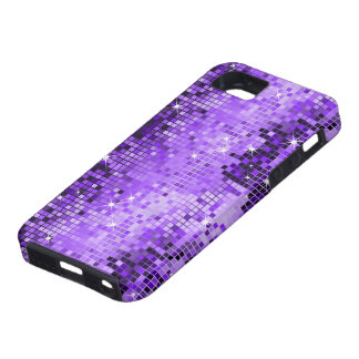 Metallic Purple Sequins Look DiscoMirrors Bling Tough iPhone 5 Case