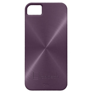 Metallic Purple Stainless Steel Metal Look Barely There iPhone 5 Case