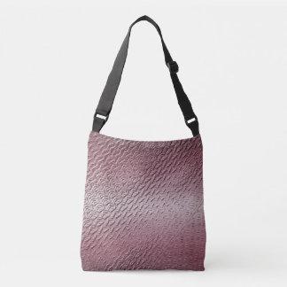 metallic  purple texture crossbody bag
