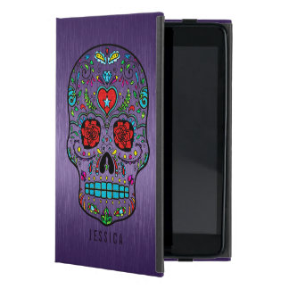 Metallic Purple With Colorful Sugar Skull iPad Mini Case