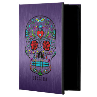 Metallic Purple With Colorful Sugar Skull Powis iPad Air 2 Case