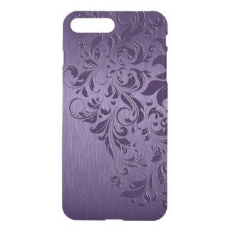 Metallic Purple With Purple Swirls iPhone 8 Plus/7 Plus Case
