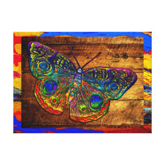 Metallic Rainbow Country Butterfly Gallery Wrap Canvas