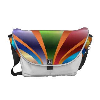 Metallic Rainbow Messenger Bag