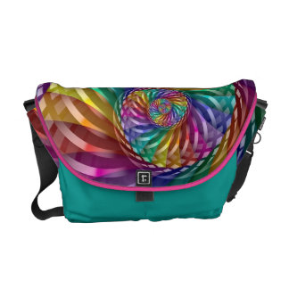 Metallic Rainbow Messenger Bag