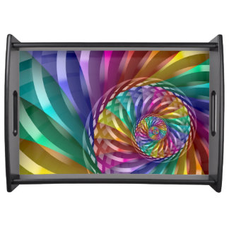 Metallic Rainbow Serving Tray