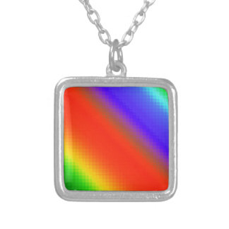 Metallic Rainbow Stripes Necklace