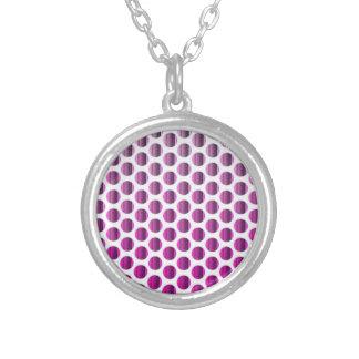 Metallic Raspberry Dots Custom Jewelry