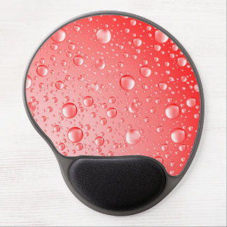 Metallic Red Abstract Rain Drops Gel Mouse Pad