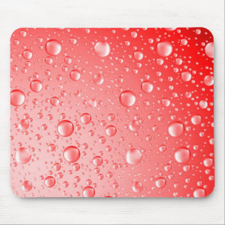 Metallic Red Abstract Rain Drops Mouse Pad