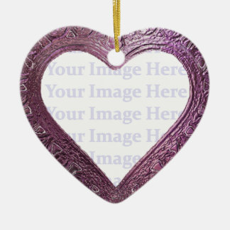 Metallic Red  Heart Frame Christmas Ornament