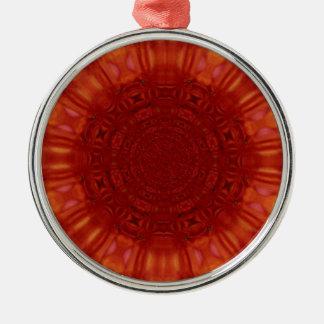 Metallic Red Ruby Jewel Art Christmas Tree Ornaments