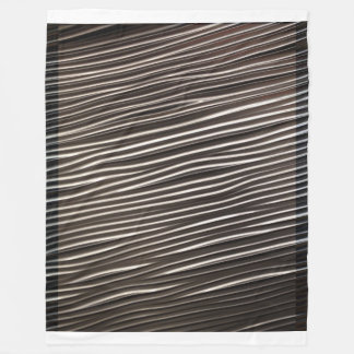 Metallic Ripples modern sheet Fleece Blanket