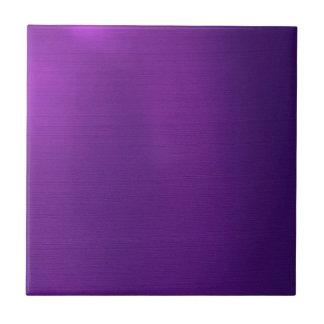 Metallic Royal Purple Small Square Tile