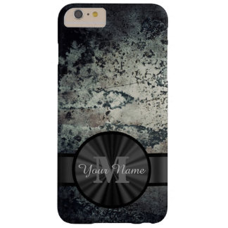 Metallic rusty metal grunge personalized barely there iPhone 6 plus case
