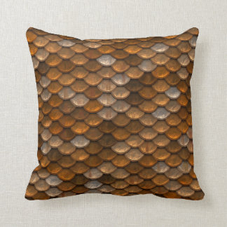 Metallic Scales Print Cushion