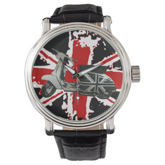 Metallic Scooter on shredded union jack art Watch