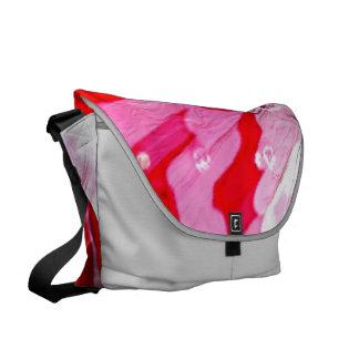 metallic shiny colors, abstract red messenger bag