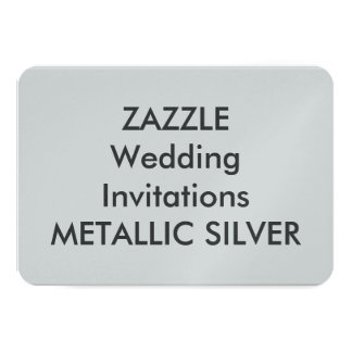 "METALLIC SILVER 5"" x 3.5"" Wedding Invitations"