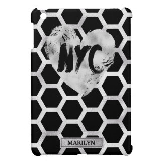Metallic Silver and Black, NYC iPad Mini Cases
