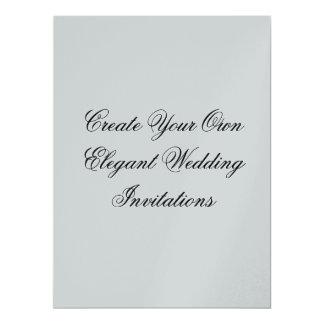 Metallic Silver Create Your Own Wedding 17 Cm X 22 Cm Invitation Card
