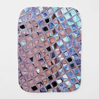 Metallic Silver Disco Ball Mirrors Faux Burp Cloth