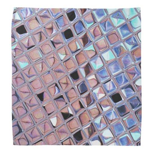 Metallic Silver Disco Ball Mirrors Faux Kerchiefs