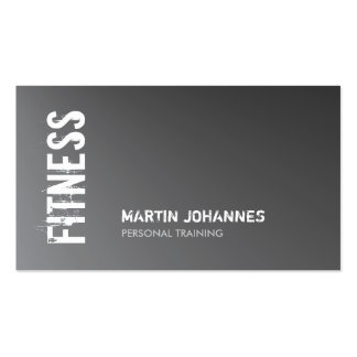 Metallic Silver Gray Fitness Personal Trainer Pack Of Standard Business Cards
