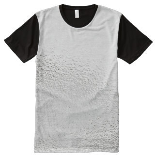 Metallic Silver Gray Glass Frozen Black Design All-Over Print T-Shirt