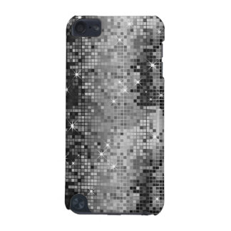 Metallic Silver Sequins Look Disco Mirrors Bling iPod Touch 5G Case