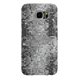 Metallic Silver Sequins Look Disco Mirrors Bling Samsung Galaxy S6 Cases