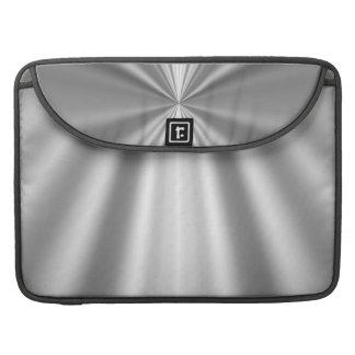 Metallic silver sleeve for MacBook pro