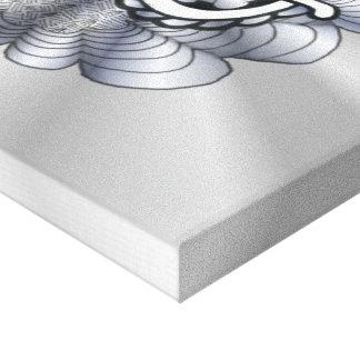 Metallic Silver Treble Clef Musical Art Canvas Print