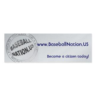 Metallic Skinny Cards - BaseballNation Business Card