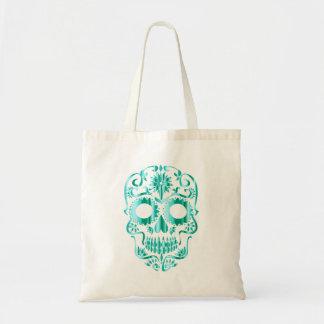 Metallic Skull Tote Bag