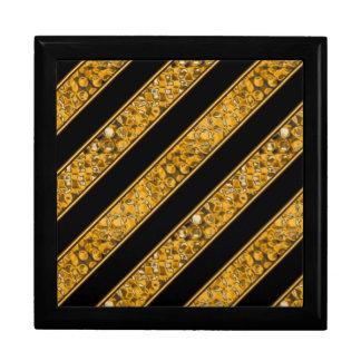 Metallic Snake Stripes Large Square Gift Box