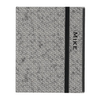 Metallic Stamped Steel Look iPad Case