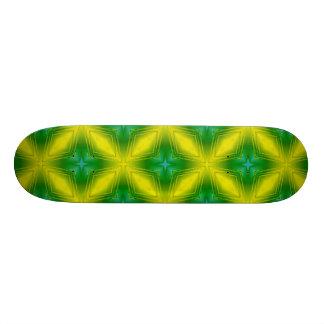 Metallic Star in Green & Yellow Custom Skateboard