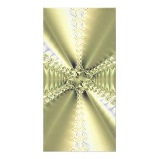 Metallic Star Photo Greeting Card
