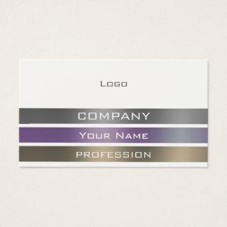 Metallic stripes ribbon pattern business card