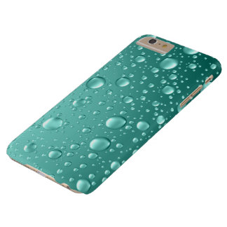 Metallic Teal-Green Abstract Rain Drops Barely There iPhone 6 Plus Case