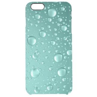Metallic Teal-Green Abstract Rain Drops iPhone 6 Plus Case