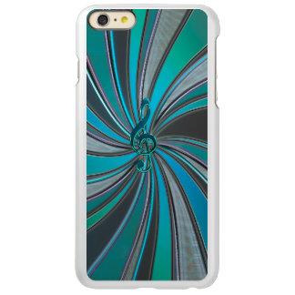 Metallic Teal Mystic Music Clef iPhone 6 Plus Case