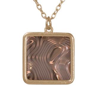 Metallic Texture Necklace