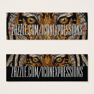 Metallic Tiger Eyes Business Cards