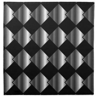 Metallic tile background napkin