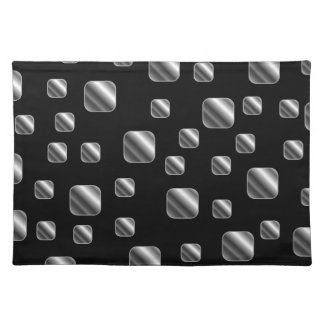 Metallic tile background placemat