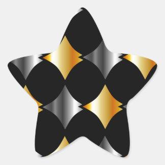 Metallic tile background star sticker