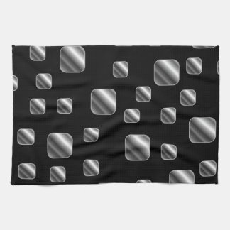 Metallic tile background tea towel