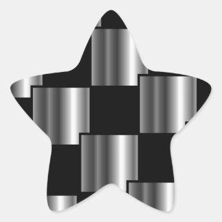 Metallic tile star sticker